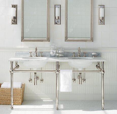 Double Washstand Sinks Bathroom Ideas Pinterest