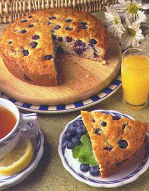 Blueberry oatmeal breakfast cake. | All about cake! | Pinterest