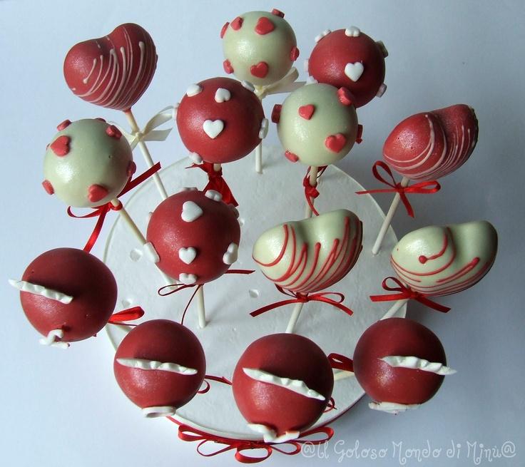 Cake pops Valentine's day | cake pops | Pinterest