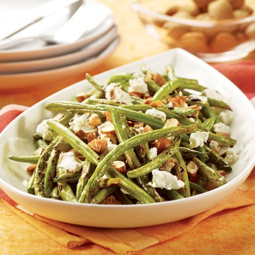 Easy Roasted Green Beans with Balsamic Vinegar and Goat Cheese ...