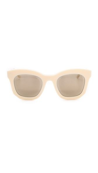 Shop now: Stella McCartney mirrored thick frame sunglasses