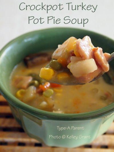 Crockpot Turkey Pot Pie Soup Recipe | recipes | Pinterest