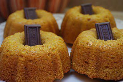 Halloween Party Food ideas - Tiny pumpkin bread bundt cakes with Chocolate stems #party #parties #food #foods #great #kids #ideas #diy #halloweenfood #halloweenfoods #halloweenparty #recipe #recipes #spooky #cool #awesome #vampire #cupcakes #Halloween #food #baking #cooking #dessert #autumn #fall #bundt #bundtcake #chocolate #pumpkin #pumpkins #mini