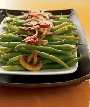 Sauteed Green Beans with Wild Mushrooms | Real Simple Recipes