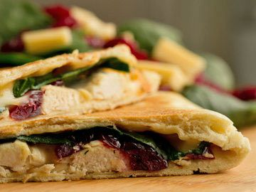 Turkey-Cranberry Quesadilla | Diet.com Recipes | Pinterest