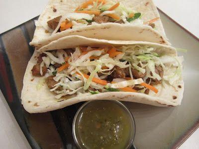 Pork Tenderloin Tacos with Tangy Slaw | Favorite Recipes | Pinterest