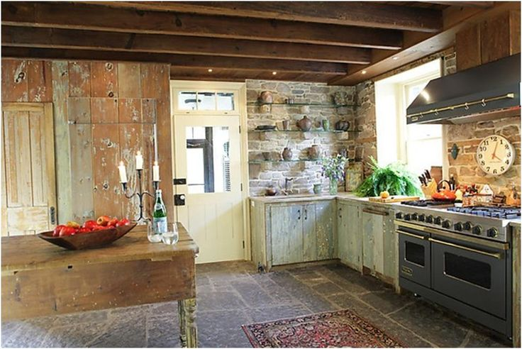 Rustic farmhouse kitchen kitchens pinterest - Rustic farmhouse kitchen ...