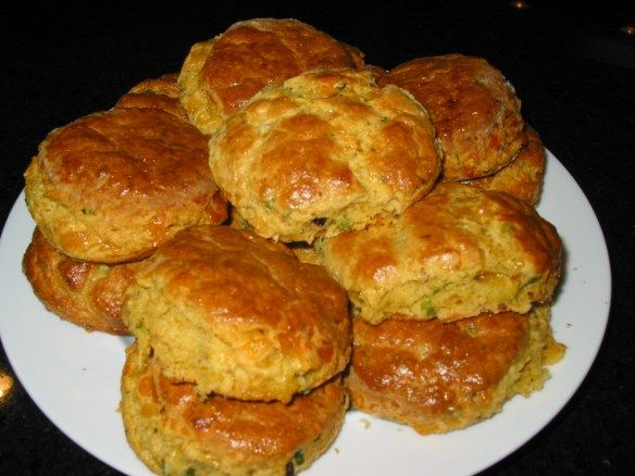 Cornmeal Biscuits with Chipotle Chiles and Smoked Cheddar Cheese