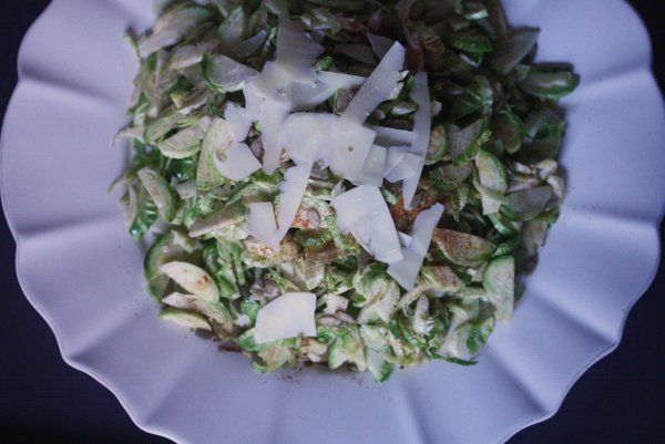 Shaved Brussels Sprout Salad with Manchego and Pimenton #healthy # ...