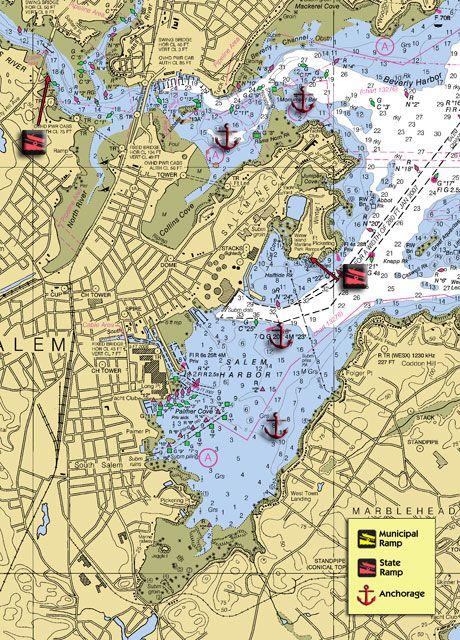 Salem Massachusetts Map And Waterway  Salem
