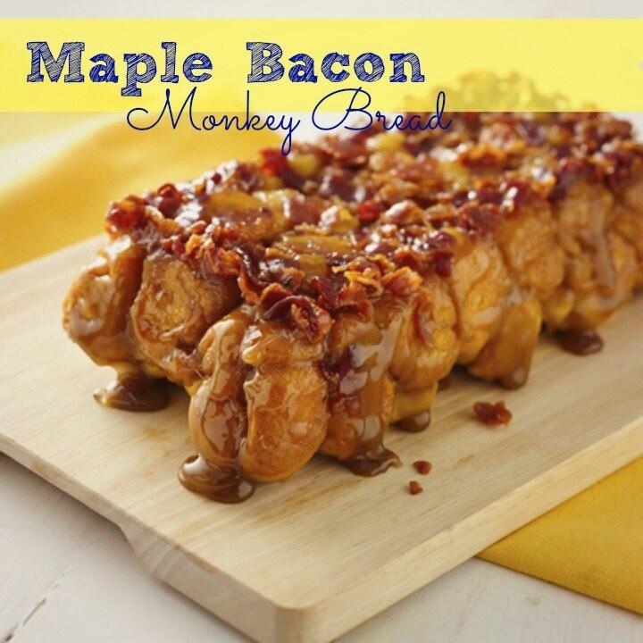 Maple Bacon Monkey Bread | crafts | Pinterest