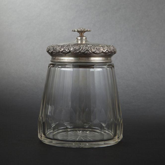 glass candy jar with silver lid jars pinterest. Black Bedroom Furniture Sets. Home Design Ideas