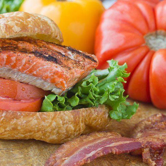 Grilling Recipe: Smoky Salmon BLTs (minus the bacon) Recipes from The ...