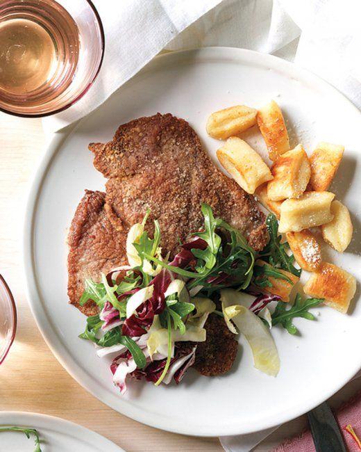 Pork Milanese with Arugula Salad   Recipe