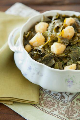 Collards With Cornmeal Dumplings Recipe pictures