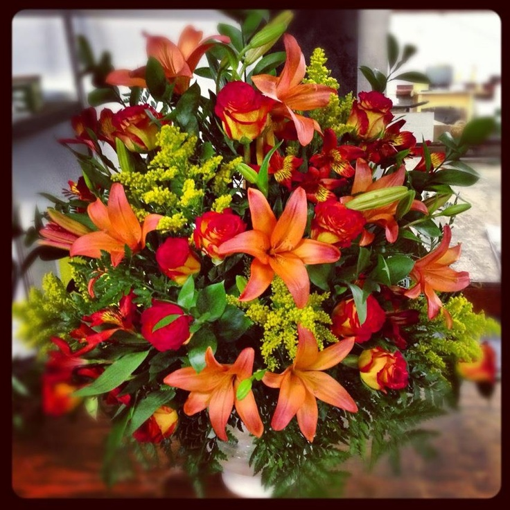 Fall Wedding Altar Flowers: Ceremony Flowers