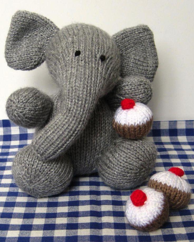 Knitting Pattern Toy Elephant : Elephant toy knitting pattern knitting animals Pinterest
