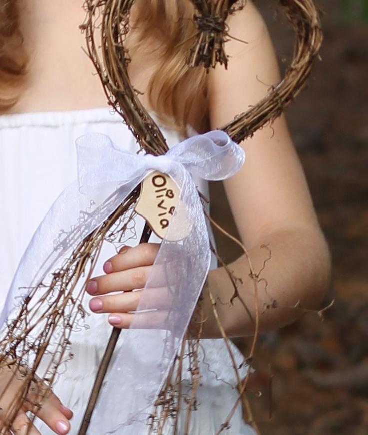 Alternative Flower Girl Basket Ideas : Flower girl basket alternative heart wand with a