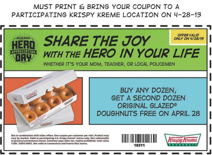 Krispy kreme coupon october 2018