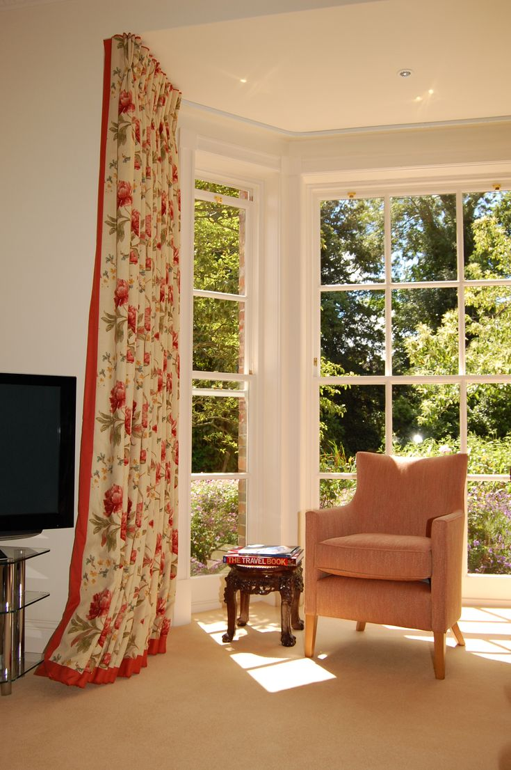 Curtains bay window track curtain headings pinterest - Curtains for a bay window ...
