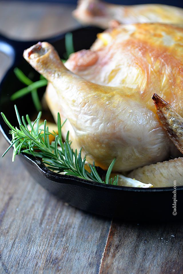 Roast Chicken with Lemon and Rosemary Recipe - Cooking | Add a Pinch