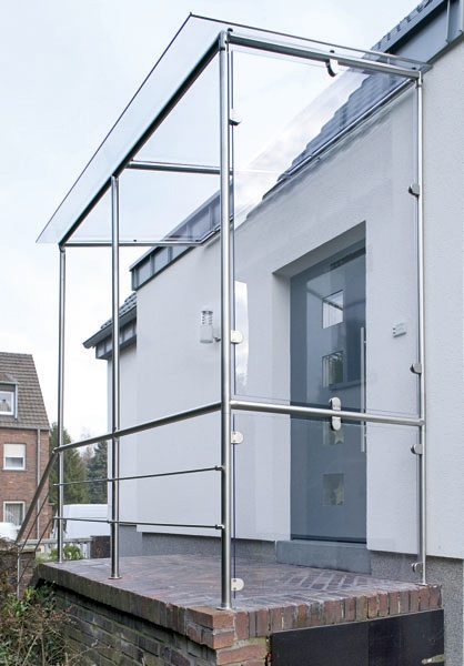 TerrassenUberdachung Freistehend Holz Selber Bauen ~ Ein selbst gebautes Vordach mit dem praktischen Baukastensystem von