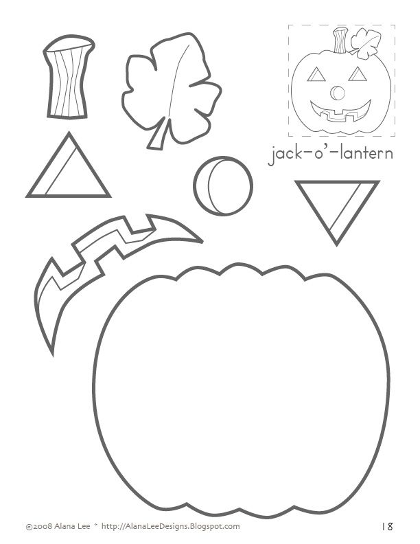 jack-o'-lantern...sequencing, following directions, position words
