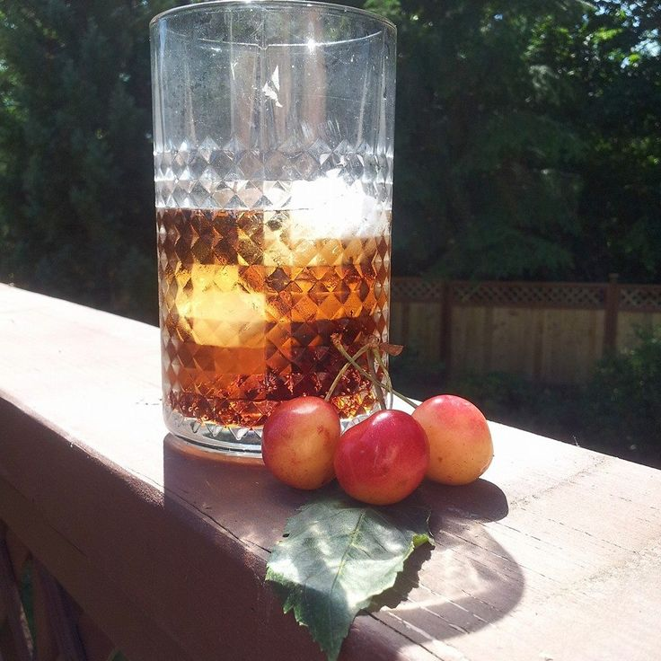 Homemade cherry soda, using rainier cherries, sarsaparilla extract ...