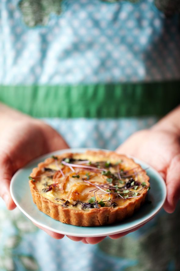 Swiss chard, pear and Gruyère tart... a savory small plate - Cannelle ...