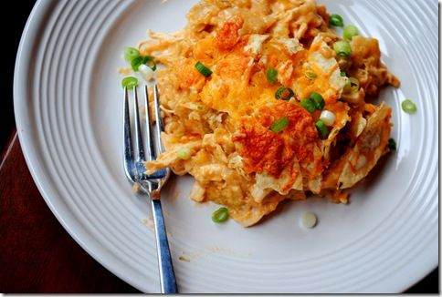 Lighter Chicken Enchilada Casserole | food | Pinterest