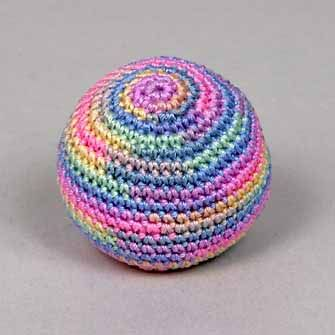 Show Me How To Crochet : Make Your Own Hacky Sack or FootBag - Instructables.com
