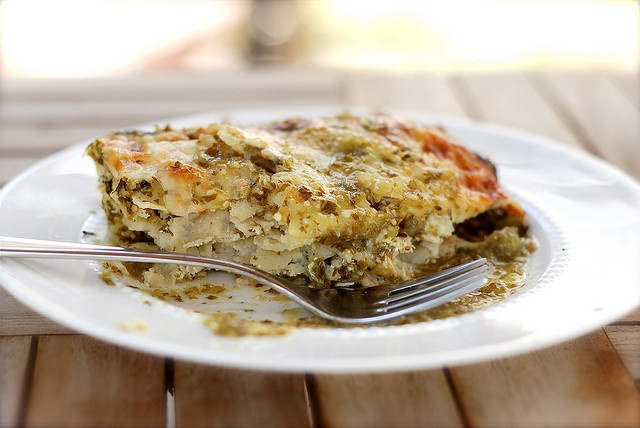 Stacked Chicken Enchiladas With Salsa Verde And Cheese Recipe ...