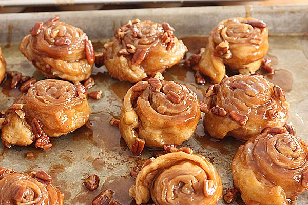 Sticky Buns from Puff Pastry | Breakfast Bakery Basket ~ Muffins, Sco ...