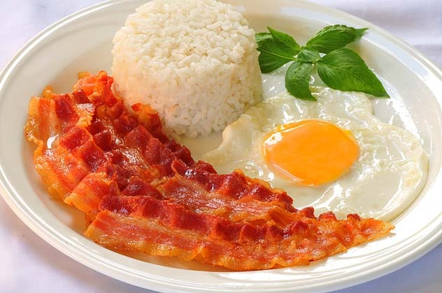 bacon rice ang egg | International Flair | Pinterest
