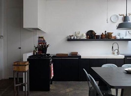 Zelfgemaakte Keuken : Zelfgemaakte kruk, zwarte keuken keuken Pinterest