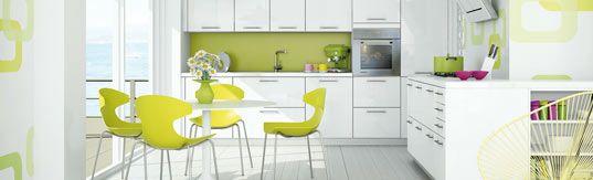Chambre Scandinave Blanche : cuisine verte et blanche  cuisine  Pinterest