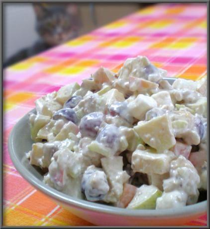 Waldorf Salad; original recipe. I made 1/2 of the dressing. Original ...