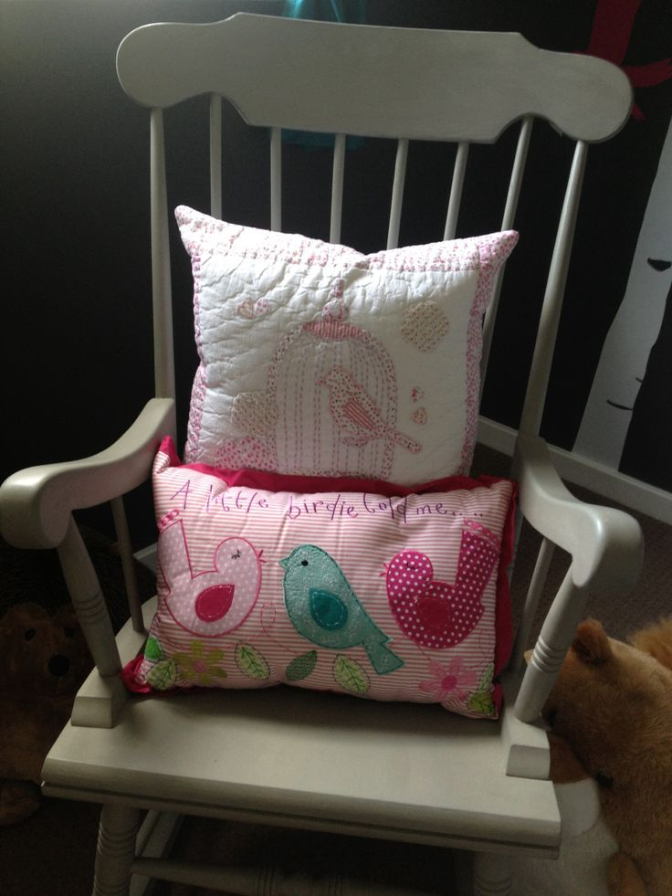 Rocking chair and cushions nursery baby pinterest