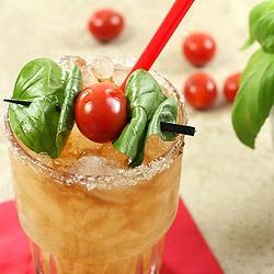 Caprese Margarita. So unique and so very good with fresh garden basil ...