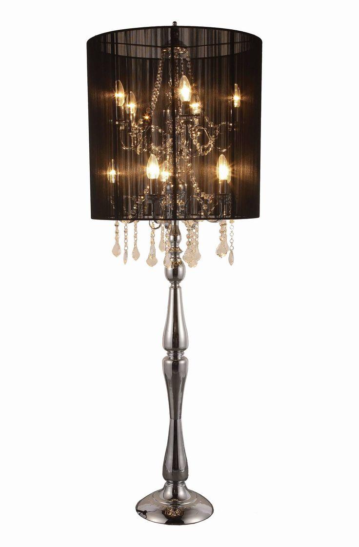 chandelier floor lamp unique light fixtures pinterest. Black Bedroom Furniture Sets. Home Design Ideas