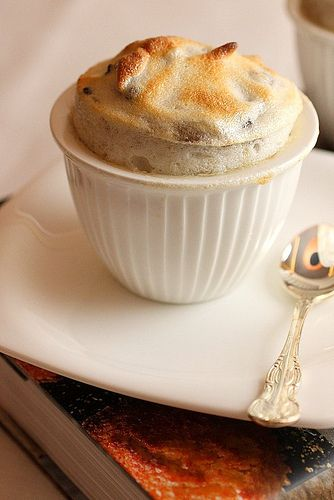 Chocolate banana macadamia souffle | souffle recipes | Pinterest