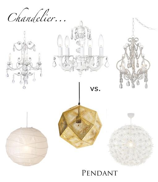 PENDANT LIGHT VS CHANDELIER