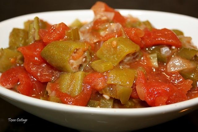 Okra and Tomatoes | Great Southern Food Recipes | Pinterest