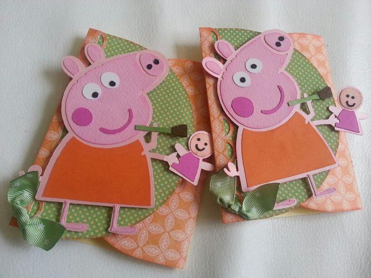 Tarjetas de cumplea os de pepa la cerdita tarjetas - Ideas para hacer tarjetas de cumpleanos ...