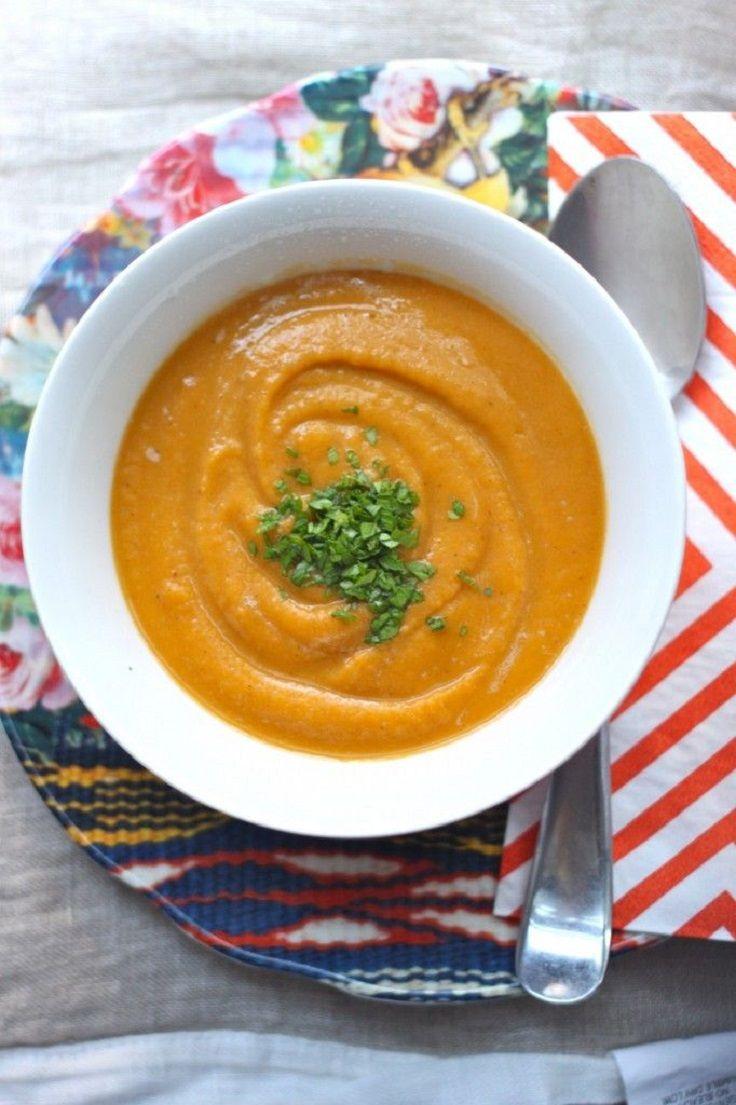 Creamy Sweet Potato Soup | indulge | Pinterest