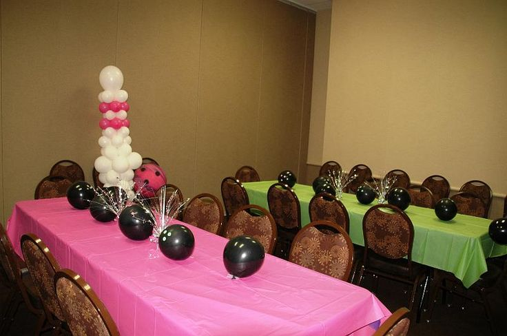 Bowling party decorations th birthday ideas pinterest