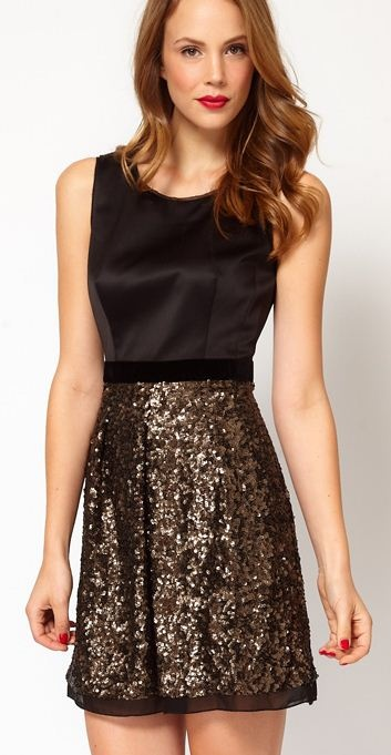 sequins and satin