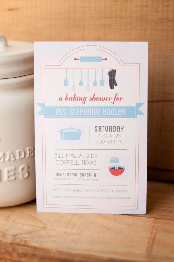 Baking and Kitchen Theme Bridal Shower Invitation, PDF File on Etsy, $ ...