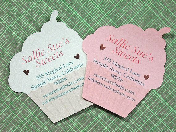 Cupcake shaped business cards Business cards