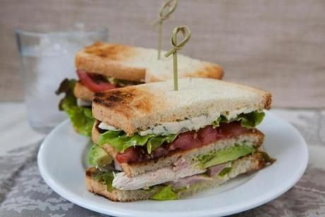 Recipe for Cobb salad club sandwiches - The Boston Globe